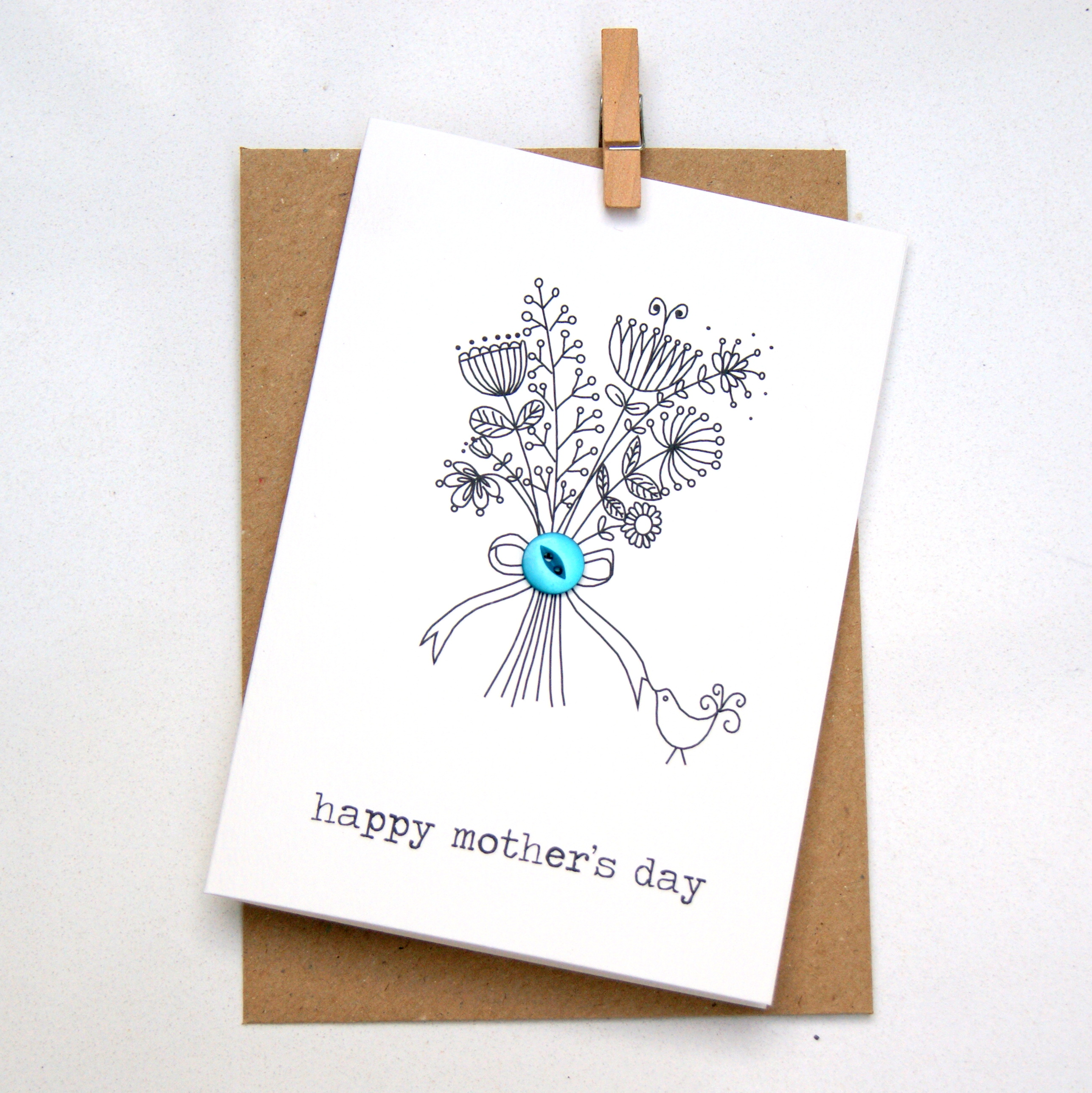 happy mother's day button box card from Hummingbird Cards