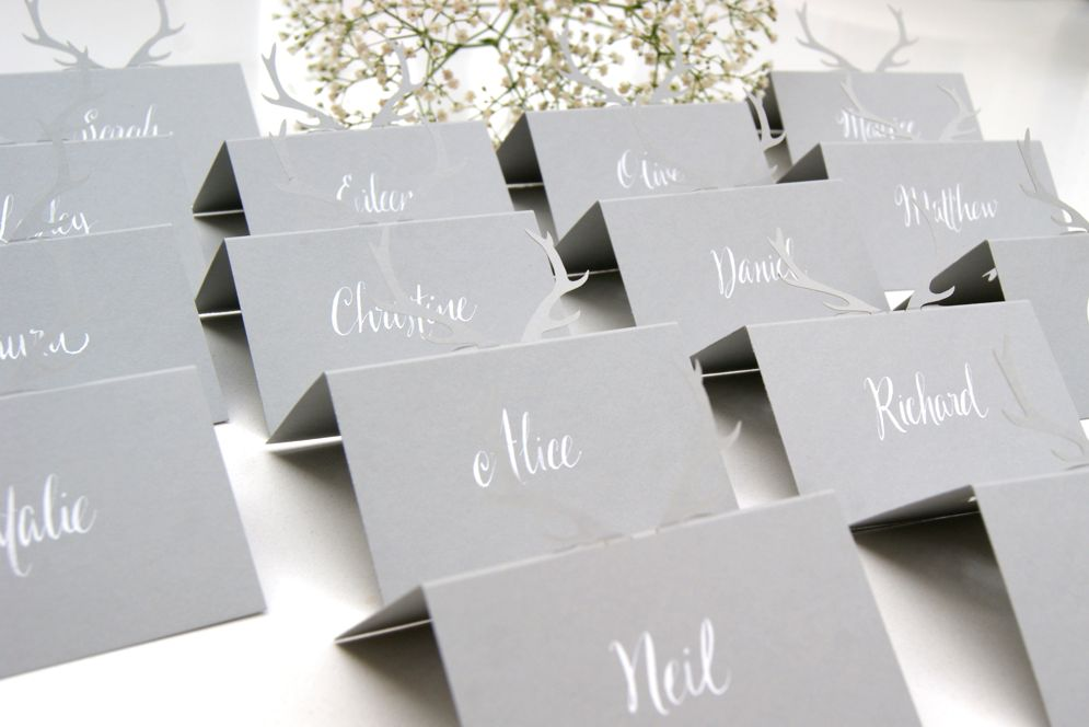 Bespoke table place cards