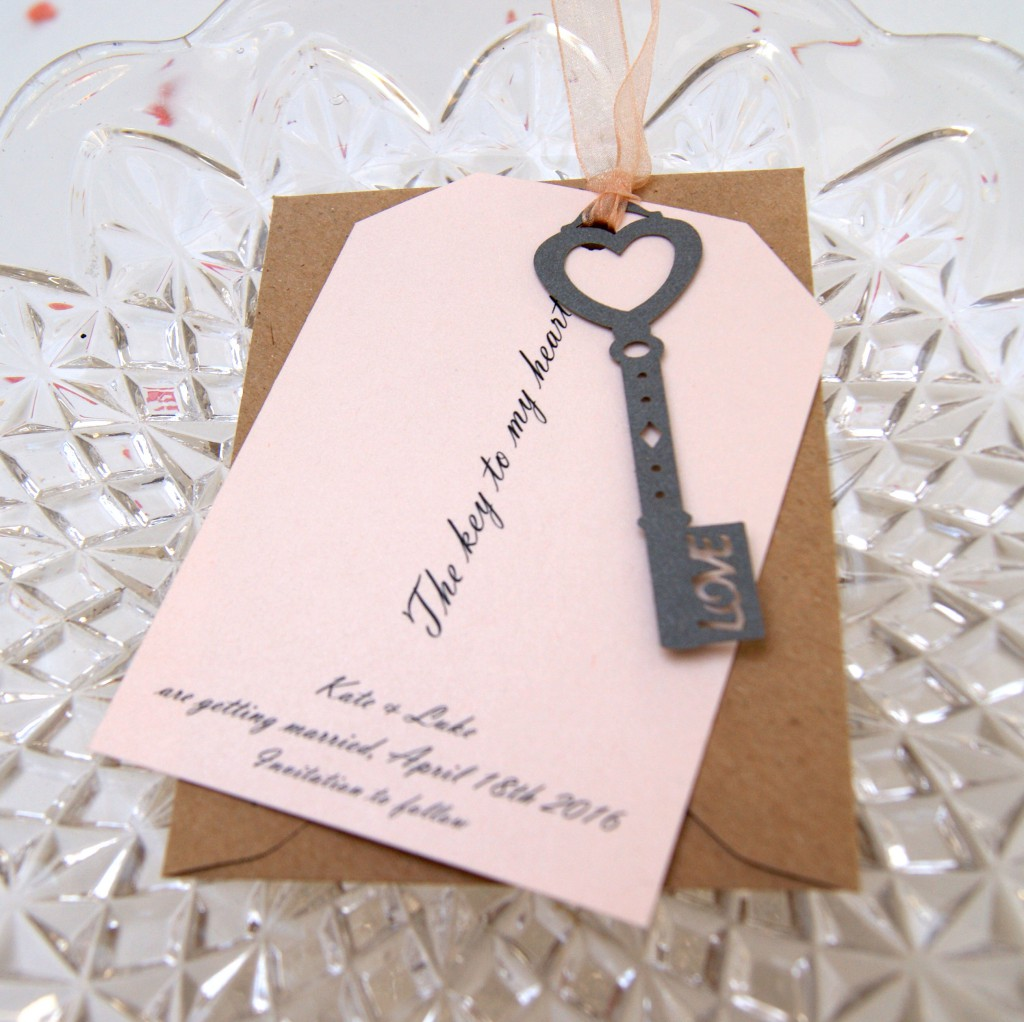 Key to my heart - save the date card