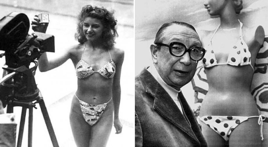 Louis Reard and the first string bikini circa 1946