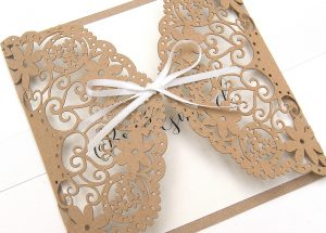 Doily Lace thank you for being my bridesmaid eco craft
