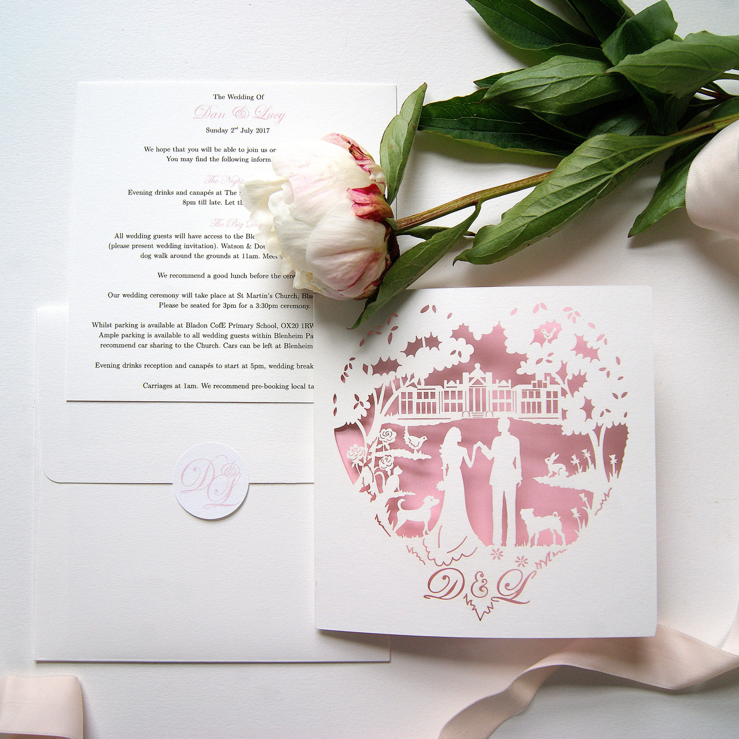 LUCY AND DANIEL BESPOKE WEDDING STATIONERY LASER CUT INVITE 1_edit