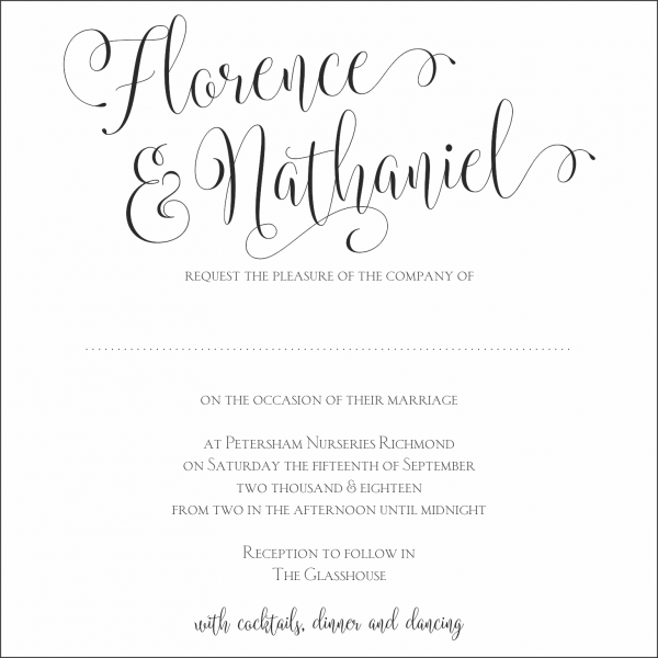 Wording Your Perfect Wedding Invitation Hummingbird Card Company
