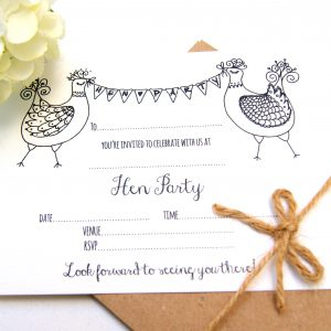 BUNTING BELLES HEN PARTY INVITE IN ECO CRAFT CARD