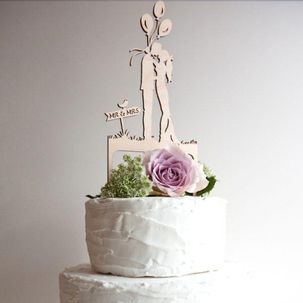 CAKE TOPPER BOHO BRIDE