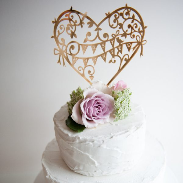 CAKE TOPPER GARDEN PARTY GOLD MIRROR