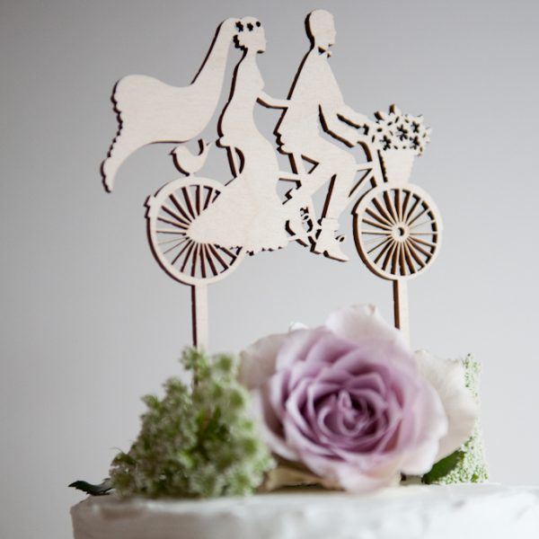 CakeTopperBicycleMadeForTwo wood