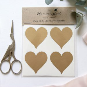 Gold Heart Decorative Stickers
