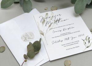 Greenery Evening Weddng Invitation
