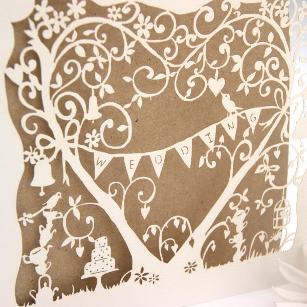 Hummingbird Cards Garden Party wedding card