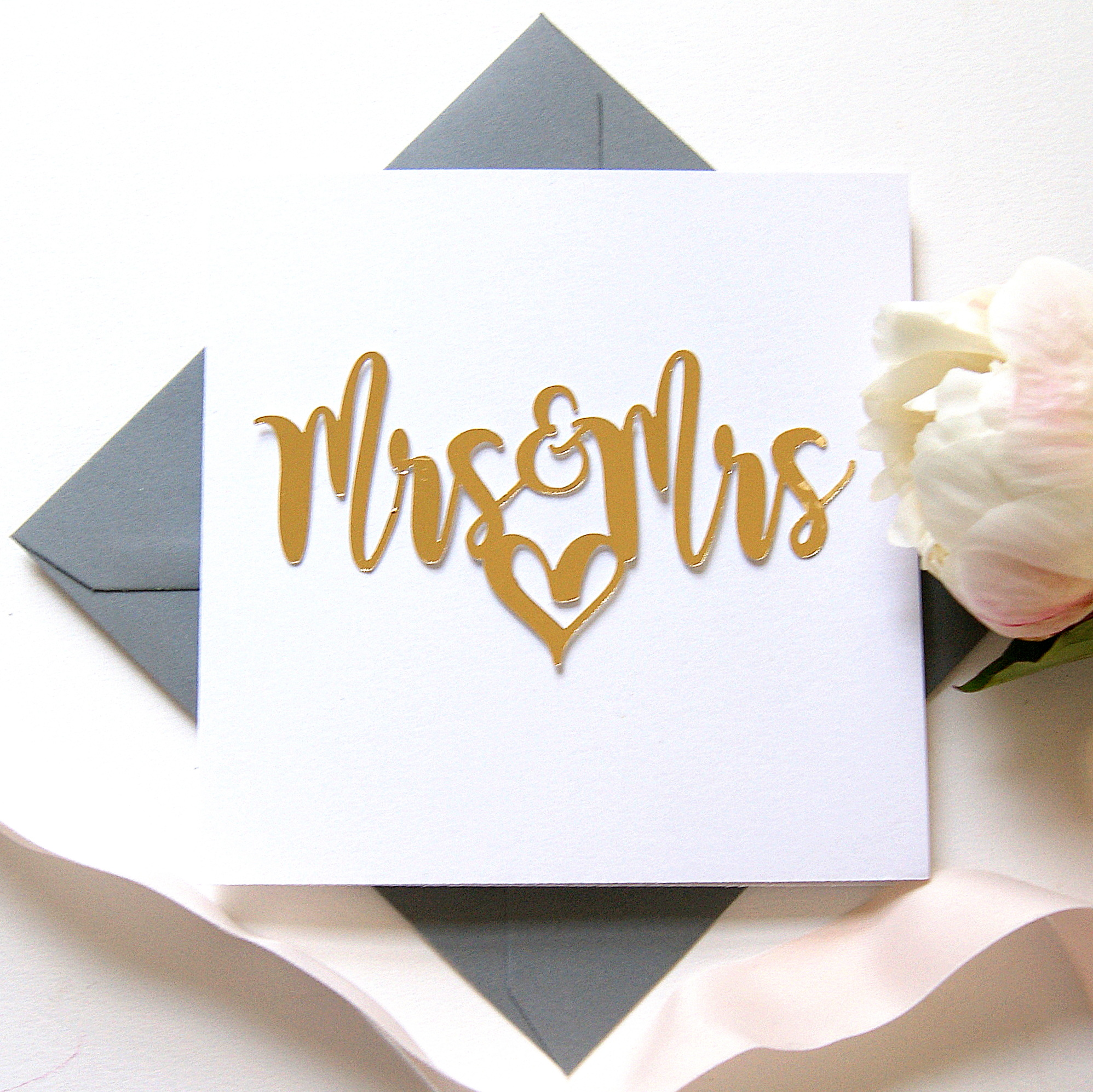 Luxe Gold Mrs And Mrs Card Shop Online Hummingbird Card Company