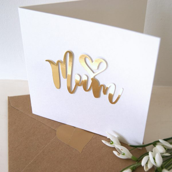 heart mum mothers day card