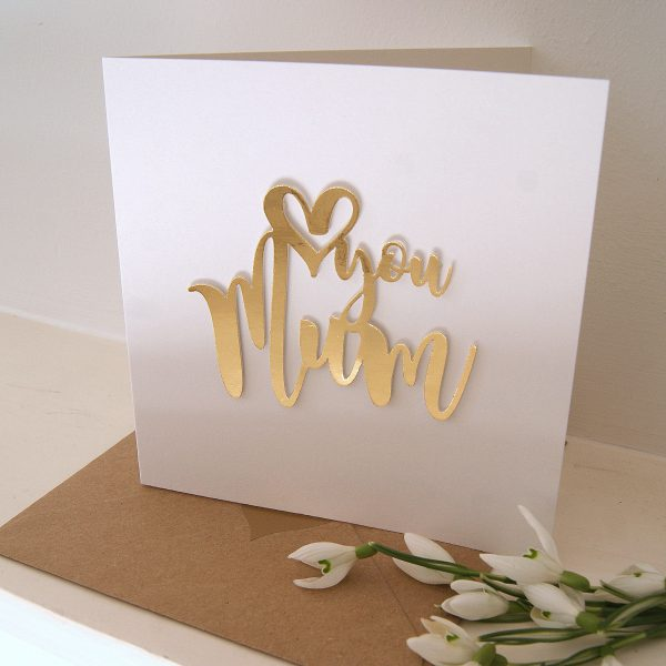 love you mum mothers day card