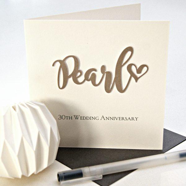 pearlthweddinganniversarycard