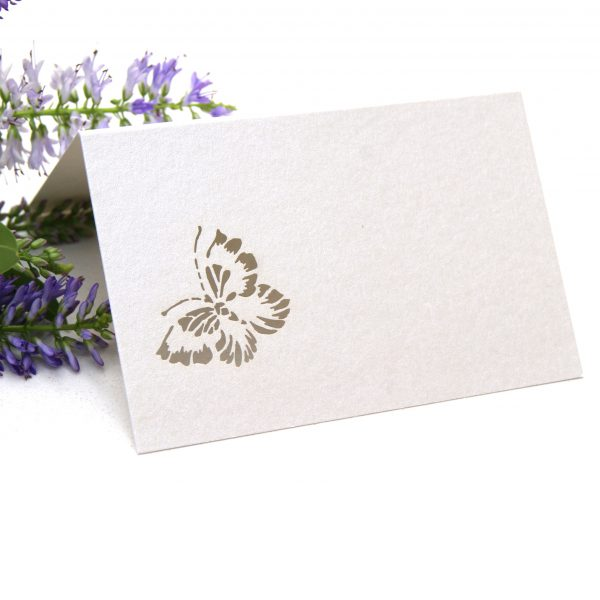 Place card laser cut butterfly