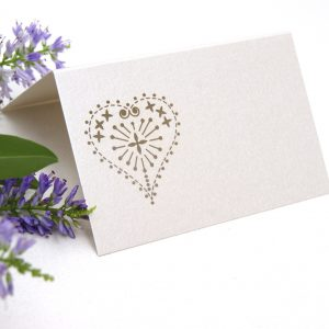 Place card laser cut heart