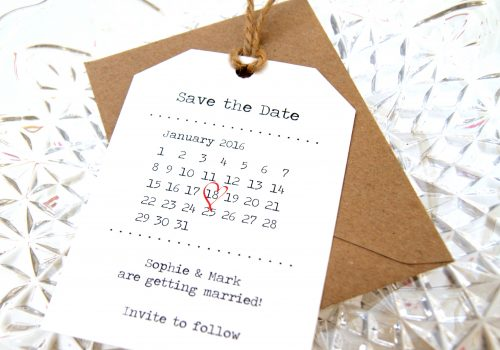 RETRO LUGGAGE TAGS SAVE THE DATE THUMB NAIL