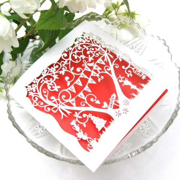 RUBY WEDDING LASER CUT CARD