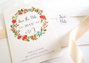 SAVE THE DATE FLOWER GARLAND