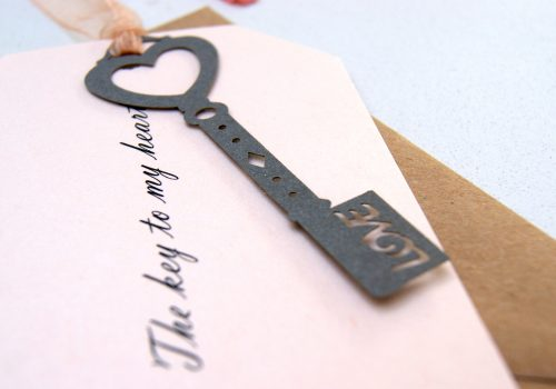 SAVE THE DATE PEWTER KEY TO MY HEART GALLERY