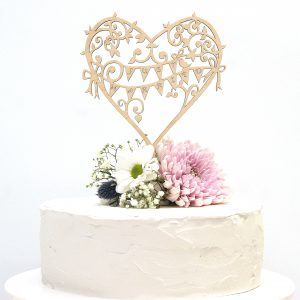 Wedding Cake Topper Wood Garden Party