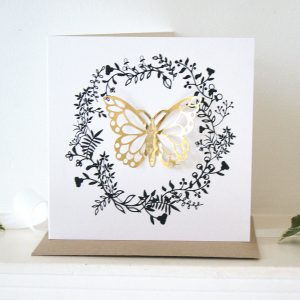 butterfly gold luxe card