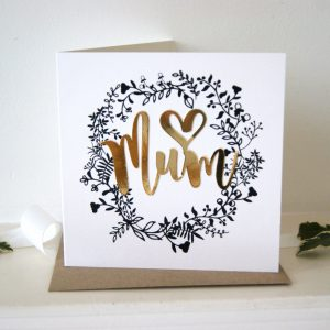 mum wreath luxe card