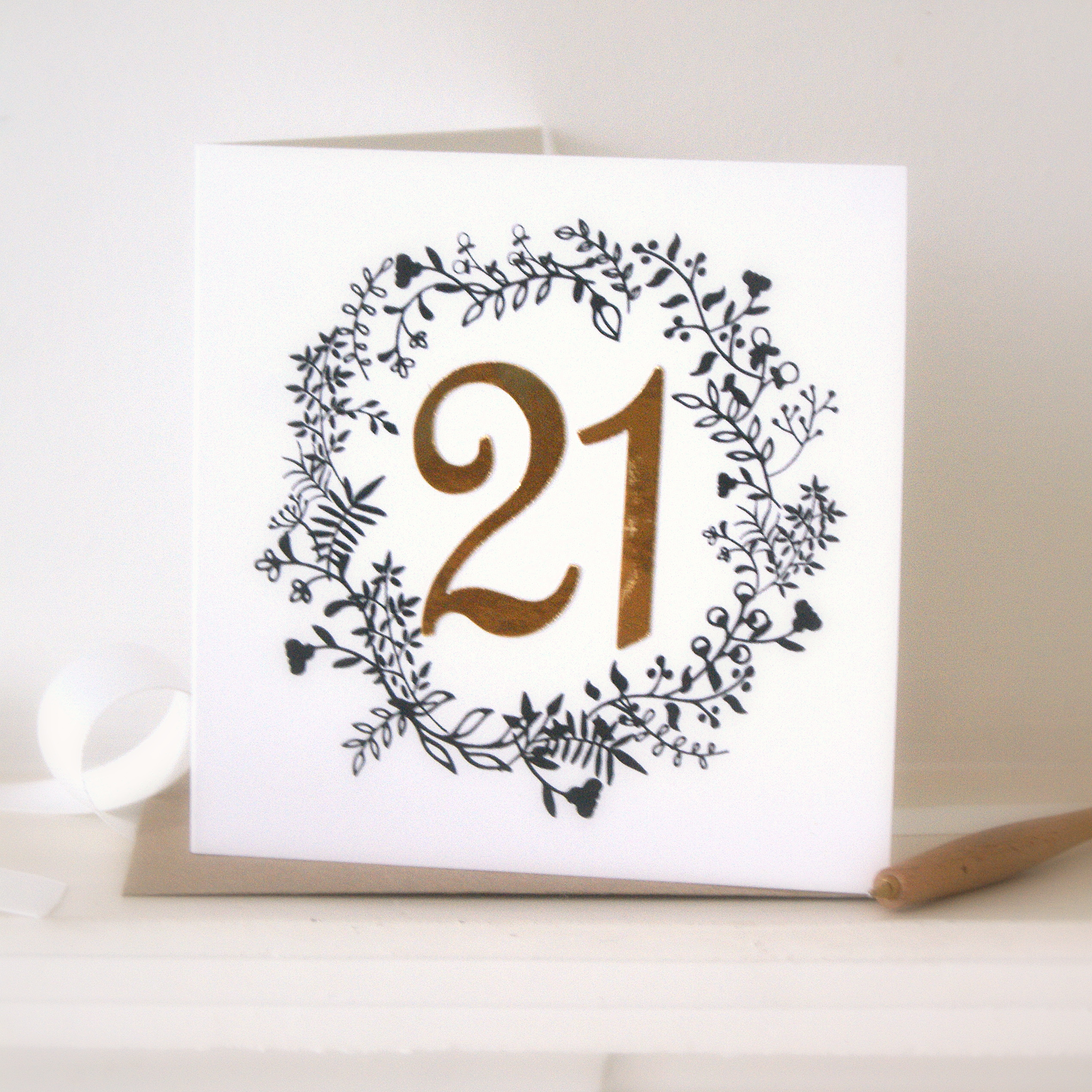 Luxe Gold 21st Birthday Card