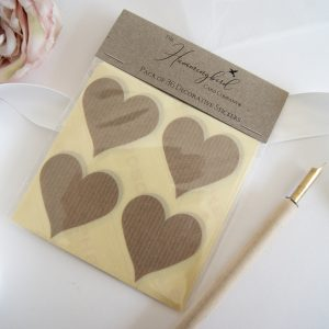 craft manilla paper heart sticker packs
