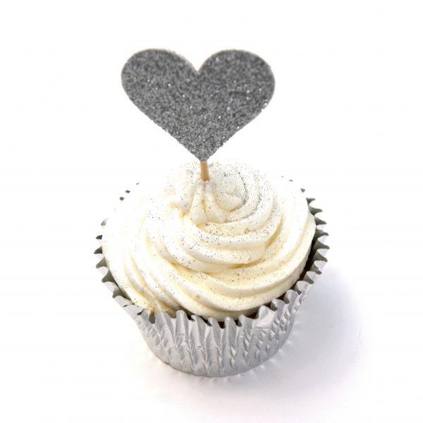 heart cake topper