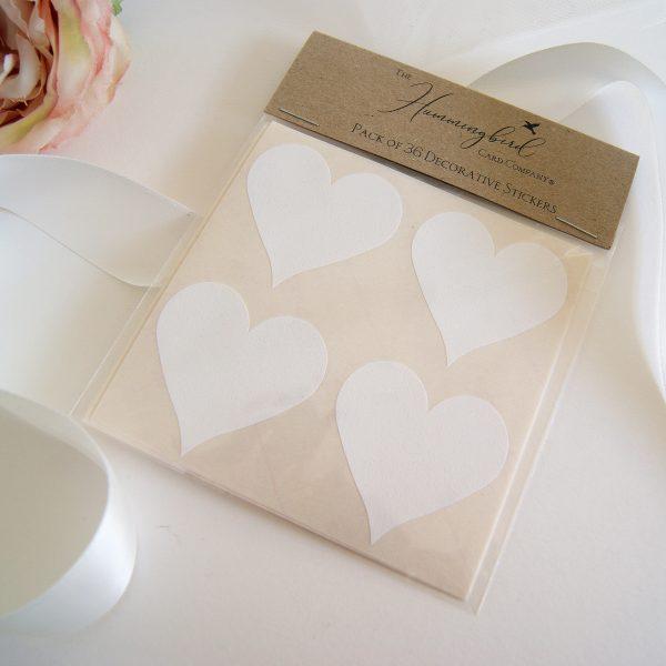 white heart sticker packs