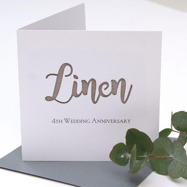 linen anniversary card