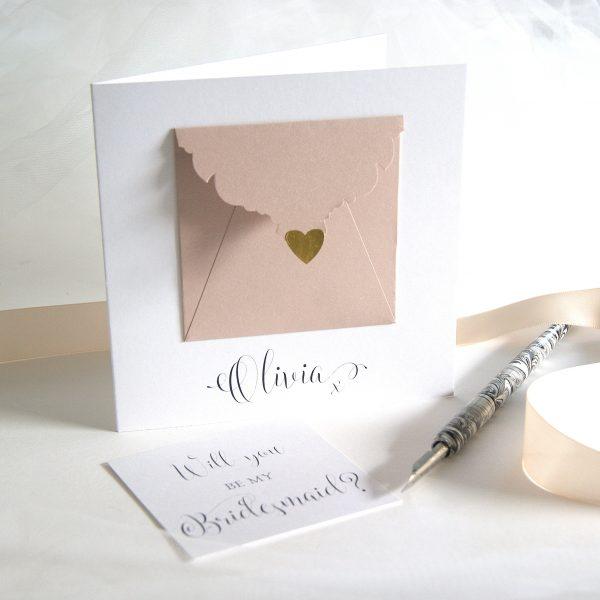 personalised bridesmaid precious message card shop online