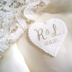 Personalised Brides Wedding Dress Keepsake Label