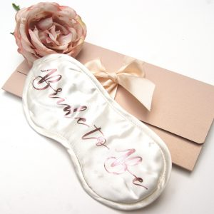 Bride To Be Luxury Silk Eye Mask