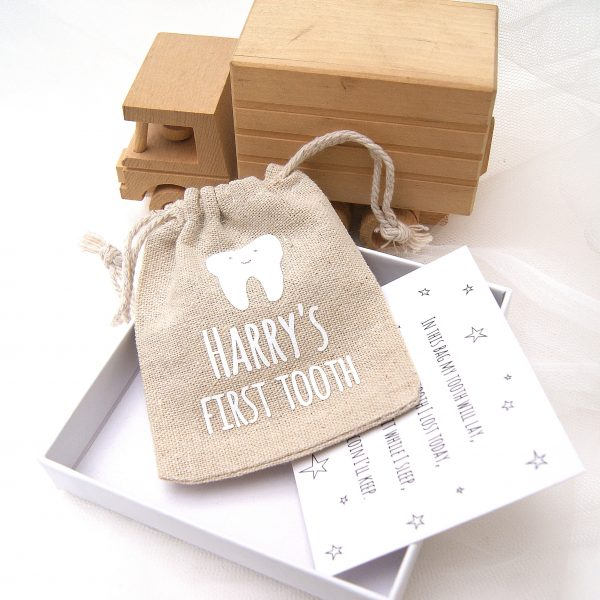 Personalised First Tooth Bag