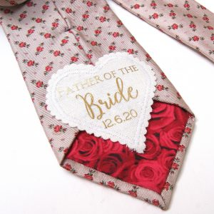 Personalised Father Of The Bride Wedding Keepsake Label