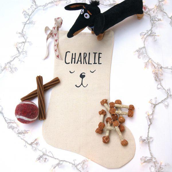 Personalisd Dogs Christmas Stocking