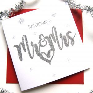 First Christmas Card As Mr And Mrs
