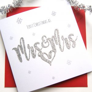 First Christmas Card As Mrs And Mrs