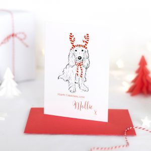 Personalised Spaniel Christmas Card