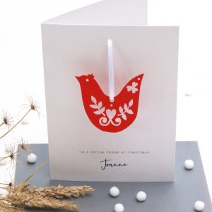 Scandi Dove Special Friends Christmas Cards