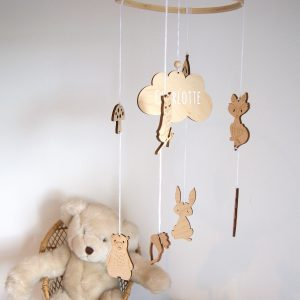 Whimsical Woodland Personalised Wooden Nursery Mobile