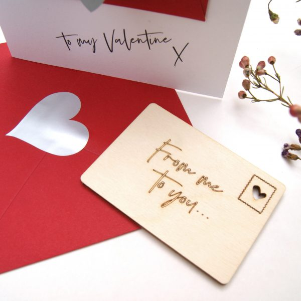 FROM ME TO YOU WOODEN POSTCARD
