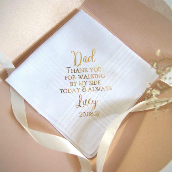 Dad thank you handkerchief