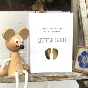 BABY FEET PERSONALISED FATHERS DAY CARD