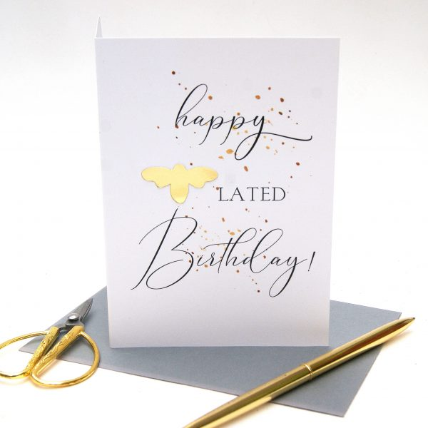 happy belated birthday card
