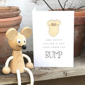 HELLO FROM THE BUMP FATHERS DAY CARD
