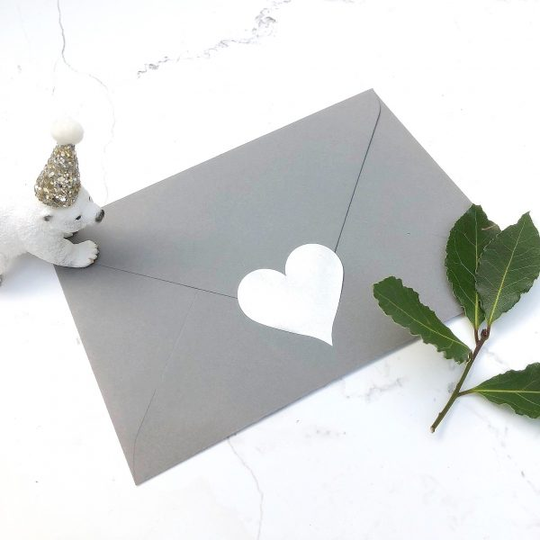 grey envelope and seal