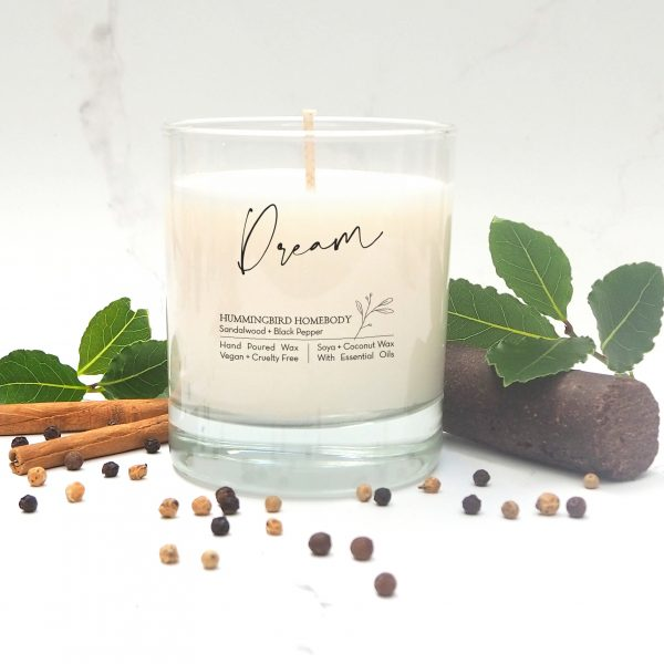 dream sandalwood and black pepper candle